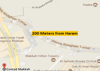 Conrad Makkah distance from haram