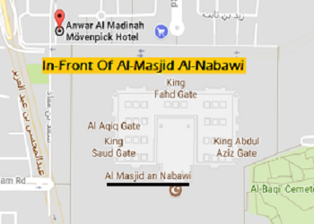 Hotel Anwar Al Madinah Moven pick Distance from Masjid Nabawi