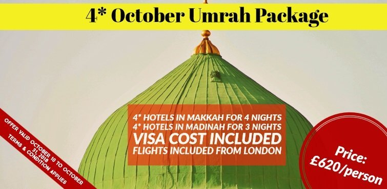 4 star October umrah package