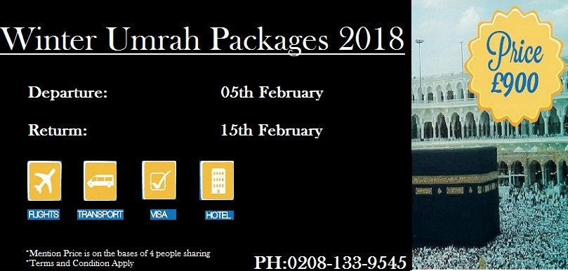 Umrah packages 2018 travel for umrah umrah packages february 2018 solutioingenieria Choice Image